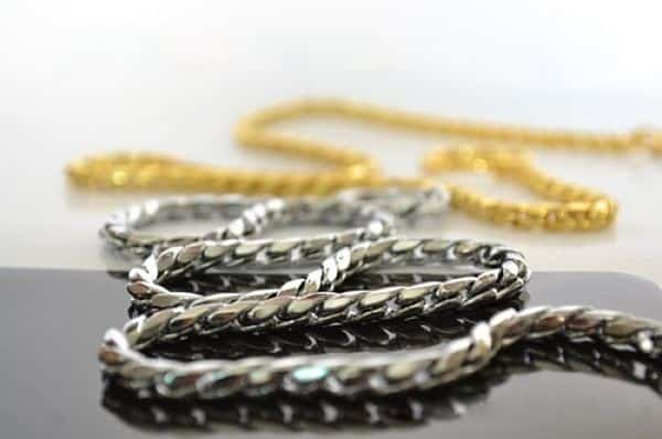 носка золота и серебра вместе