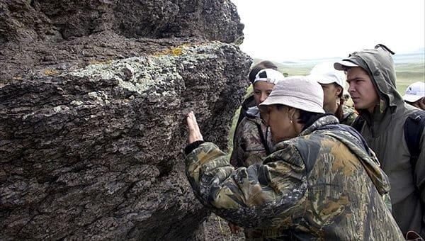 поиск золота в камне