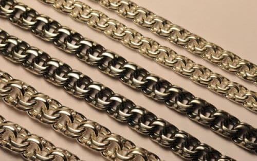плетение золотой цепи