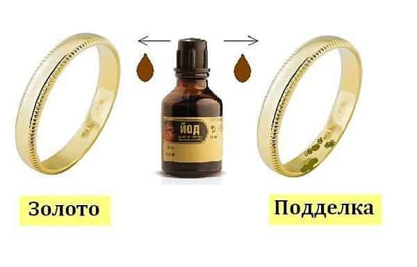 проверка золота йодом