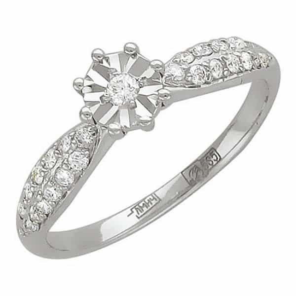 белое золото кольцо