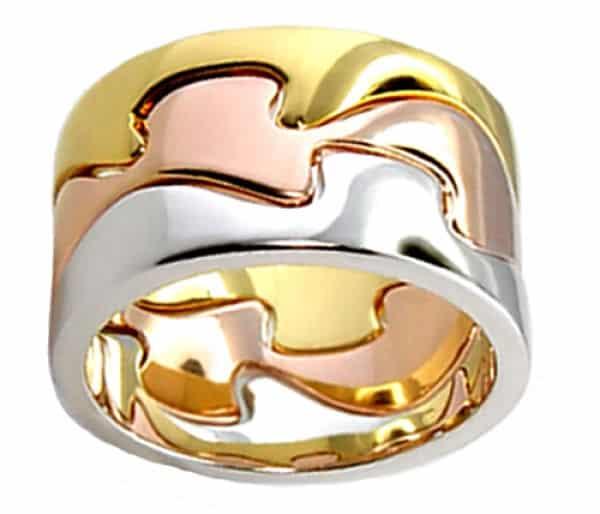 сочетание разных цветов золота