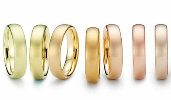 разные цвета золотых колец