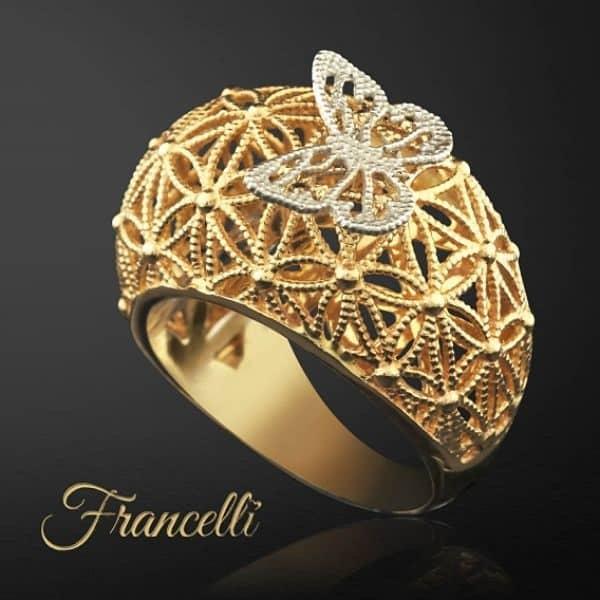 итальянское золотое кольцо